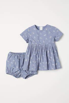 H&M Dress and Puff Pants - Blue