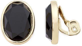 MONET JEWELRY Monet Black Stone Clip-On Earrings