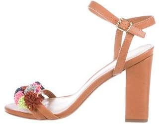 Loeffler Randall Leather Ankle Strap Sandals