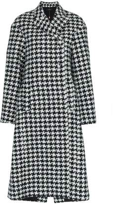 Ellery Bel Air Manastyle houndstooth wool and alpaca blend coat