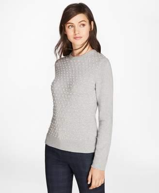 Brooks Brothers Beaded Merino-Wool-Cashmere Sweater