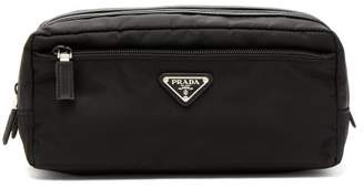 Prada Double Zip Wash Bag - Mens - Black