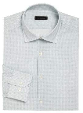 Saks Fifth Avenue Circle & Pindot Print Dress Shirt
