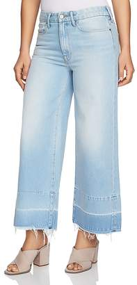 1 STATE 1.STATE Released-Hem Wide-Leg Crop Jeans in Corsica Wash