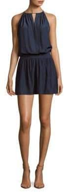 Ramy Brook Shelly Solid Crewneck Sleeveless Dress