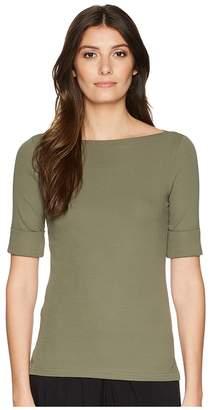Lauren Ralph Lauren Cotton Boat Neck T-Shirt Women's T Shirt