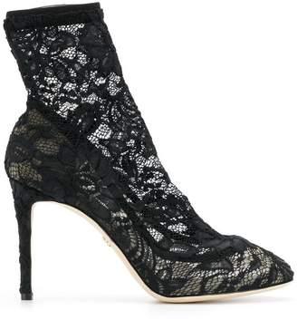 Dolce & Gabbana (ドルチェ & ガッバーナ) - Dolce & Gabbana レースパネル ブーツ