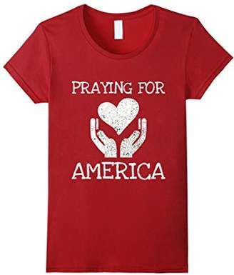 Praying for America Hands of Hope with Heart T-Shirt