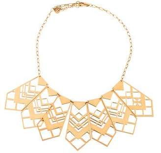 Tory Burch Chevron Cutout Collar Necklace