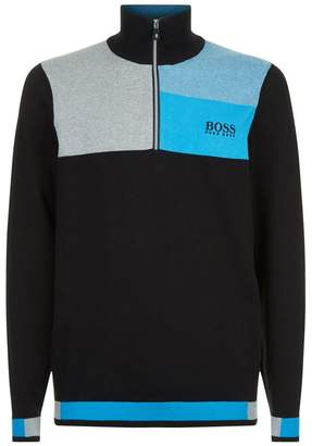 BOSS GREEN Colour-Block Sweater