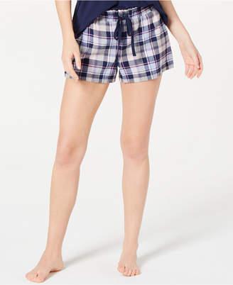 Jenni by Jennifer Moore Printed Cotton Boxer Pajama Shorts