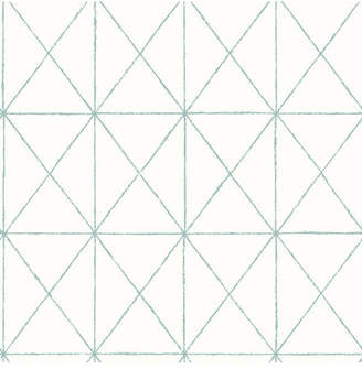 """Brewster Home Fashions Intersection Geometric Wallpaper - 396"""" x 20.5"""" x 0.025"""""""