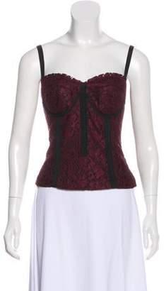 9430ad0e369 Black Lace Bustier Top - ShopStyle