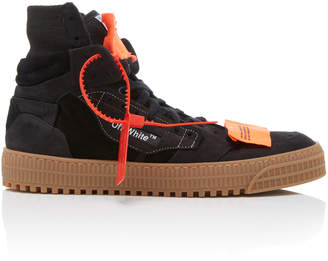 Off-White Suede And Canvas High-Top Sneakers