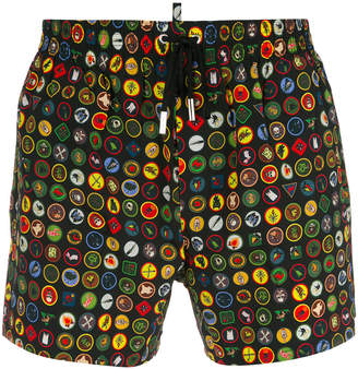 DSQUARED2 heritage swimming trunks
