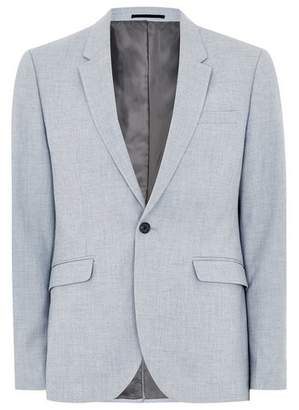 Topman Mens Stone Light Blue Textured Skinny Suit Jacket