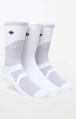adidas Prime Mesh III 3 Pack White Crew Socks