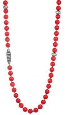 Adriana Orsini Spectrum Swarovski Crystal & Coral Bead Necklace