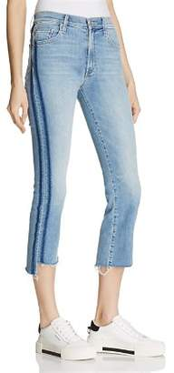 Mother Insider Crop Step Fray Jeans in Light Kitty - 100% Exclusive
