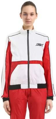 Andrea Crews New Man Printed Nylon Track Jacket