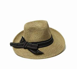Physician Endorsed Women's Rich Pitch Fedora Packable Sun Hat with Ribbon Rated Upf 50+