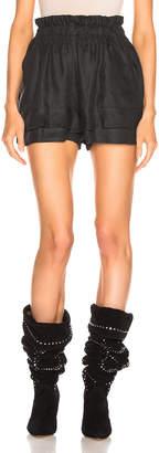 Isabel Marant Griddy Short in Faded Black | FWRD
