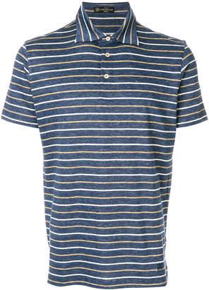 Corneliani striped polo shirt