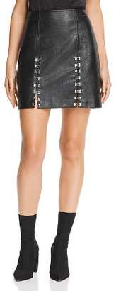 Blank NYC BLANKNYC Hook-and-Eye Faux Leather Skirt