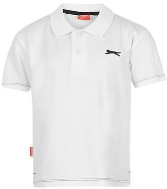 Slazenger Kids Plain Polo Shirt T Shirt Tee Top Casual Infant Boys Short Sleeve