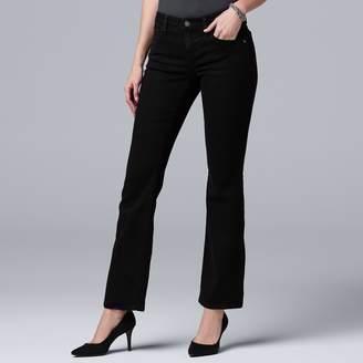 Vera Wang Women's Simply Vera Everyday Luxury Midrise Bootcut Jeans