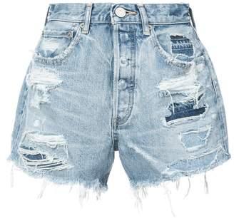 Moussy distressed denim shorts