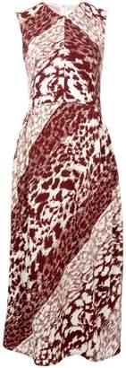 Victoria Beckham leopard print midi dress