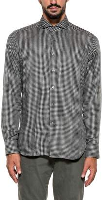 Bagutta Black/grigio Bsiena Checked Shirt