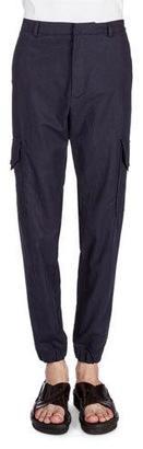 Kenzo Cotton/Linen Cargo Jogger Pants, Navy $390 thestylecure.com