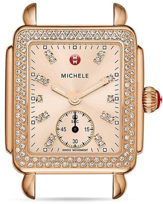 MICHELE Deco 16 Diamond Dial Watch Head, 29 x 31mm $1,995 thestylecure.com