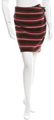 Thakoon Ruffle-Paneled Striped Skirt