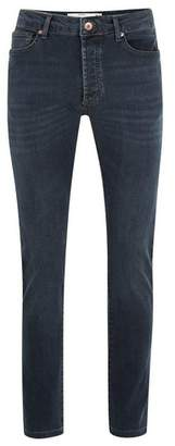 Topman Mens Grey Gray Blue Stretch Slim Jeans