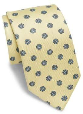Medallion Printed Silk Tie