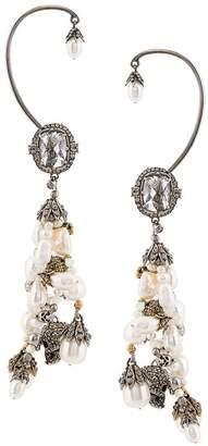 Alexander McQueen skull pearl earrings
