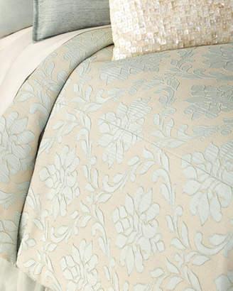 Fino Lino Linen & Lace King Chianti Duvet Cover
