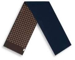 Gucci Men's GG Jacquard Wool Scarf - Midnight Blue