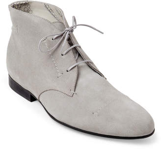Rochas Grey Suede Chukka Boots