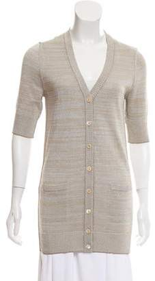 Dolce & Gabbana Metallic-Accented Short Sleeve Cardigan