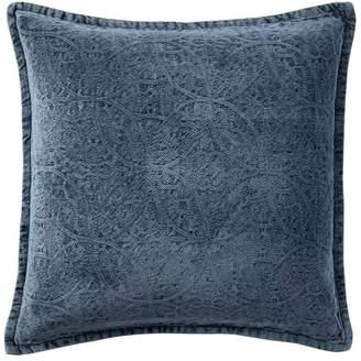 Pottery Barn Chenille Jacquard Pillow Cover - Sailor Blue