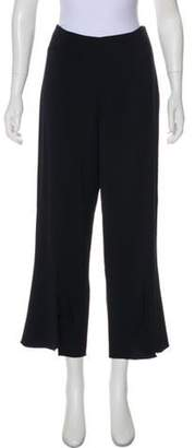 Cushnie High-Rise Wide-Leg Pants Navy High-Rise Wide-Leg Pants