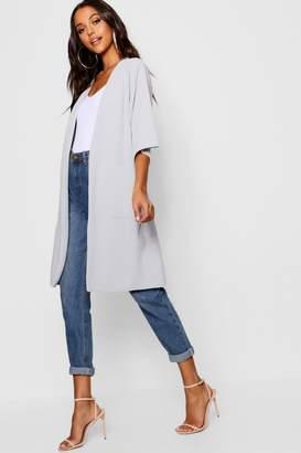 boohoo Kimono Sleeve Duster Jacket