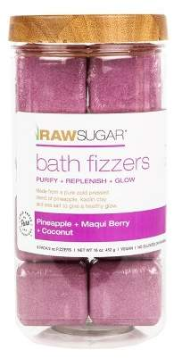 Raw Sugar Pineapple Maqui Berry And Coconut Bath Fizzers - 8ct