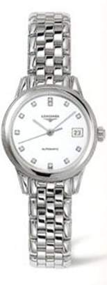 Longines Watches Flagship Automatic with Diamond Hour Makers Women's Watch