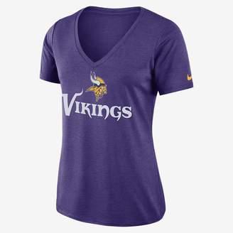 Nike Dri-FIT V-Neck (NFL Vikings) Women's T-Shirt