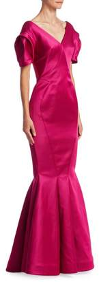 Zac Posen Balloon Sleeve Gown